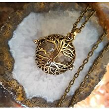 Bronze Tree of Life Locket | Urn Pendant Cremation Ash Necklace Small Urn