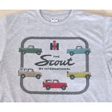 International Harvester Scout - Graphic T-Shirt - Ashen Grey -New- Small to 3XL