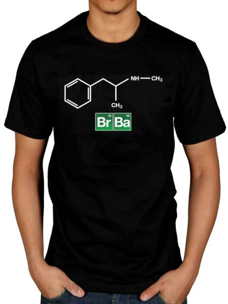 Official Breaking Bad Chemical Structure T-Shirt Walter White Jessie Pinkman TV