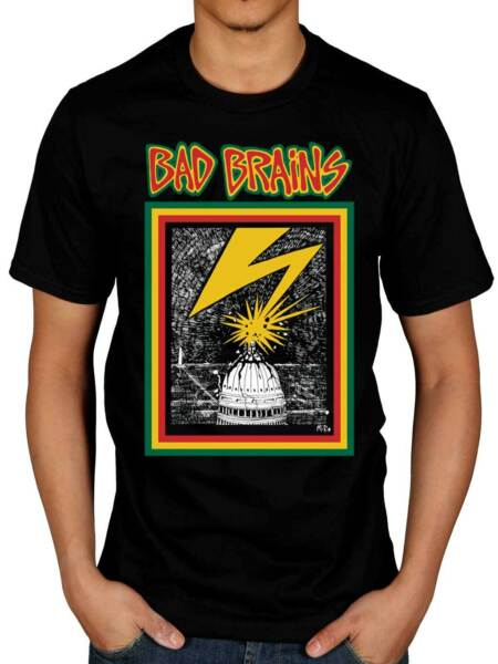 Official Bad Brains Bad Brains Lightening Strike T-Shirt ALL SIZES S - XXL