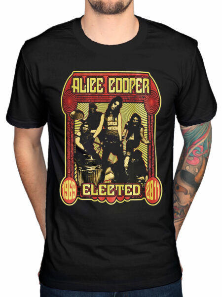 Official Alice Cooper Elected Band T-Shirt Special Force Welcome To My Nightmare
