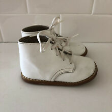 Vintage White Leather Baby Infant Shoes