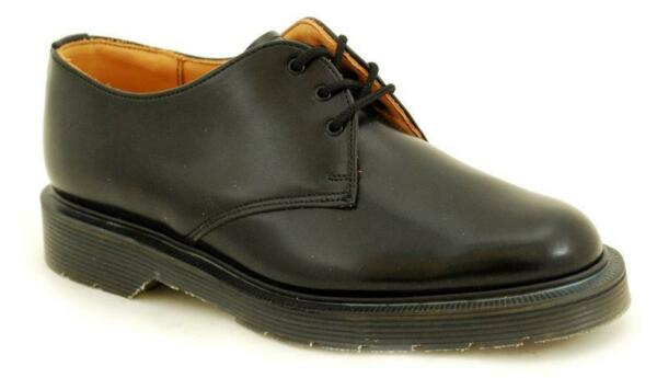 Solovair Made in England 3 Loch Black Shoe