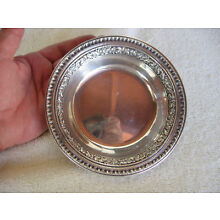 Reed & Barton Silver Plate Wine Bottle Coaster/Bowl 1201 FPNS Vintage Antique