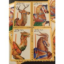 10  Carousel  Stamps For Holiday, Wedding, Announcements, and Valentine Mail