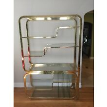 Vintage Milo Baughman for DIA Etagere Brass and Glass Great Condition