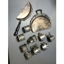 1800's Victorian Ornate Collectible Silver Plate Napkin Rings