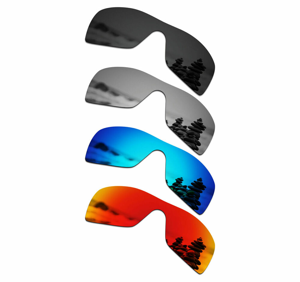 8346e4a8dd0 Details about SmartVLT Polarized Replacement Lenses for-Oakley Batwolf -  Black Silver Blue Red