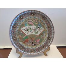 FINE Chinese Antique Export Canton Rose Medallion Plate Qing Dynasty China Asian