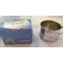 Vintage Oineda Silverplated Baby Cup In Original Box
