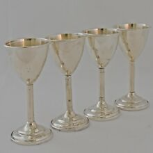 Sterling Silver Cordials by National Silver Co. Set of 4 Vintage