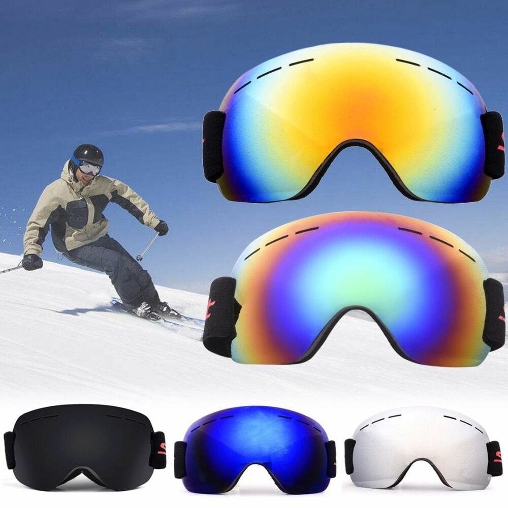 b3fe306fbb4 Details about Adult Ski Glasses Anti Fog Double Lens UV Skiing Goggles Snow  Skiing Snowboard