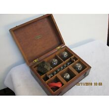 Antique Medical Bloodletting Bleeder Kit W/ Accessaries In Original Wooden Case
