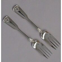 Vtg TIFFANY & Co Shell and Thread Sterling Silver Serving Fork 5 7/8