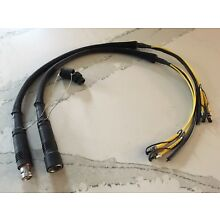 Lemo SMPTE Hybrid Fiber Breakout Cables - FUW and PUW to ST and copper
