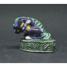 Vintage Cinese Miniature Foo Dog Figurine ~ 2 inches tall ~