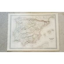 19th Century C1860 Map Of Spain And Portugal 33