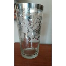 Stunning Large Floral Silver Overlay Etched Glass Vase Dorothy Thorpe ?