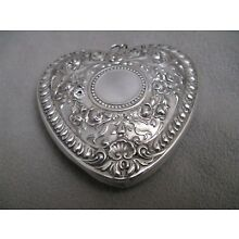 1988 Gorham Sterling Silver Victorian Heart Shaped Christmas Ornament