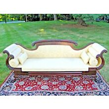 Classical Meeks School American Federal Empire Carved Sofa Bergen County NJ