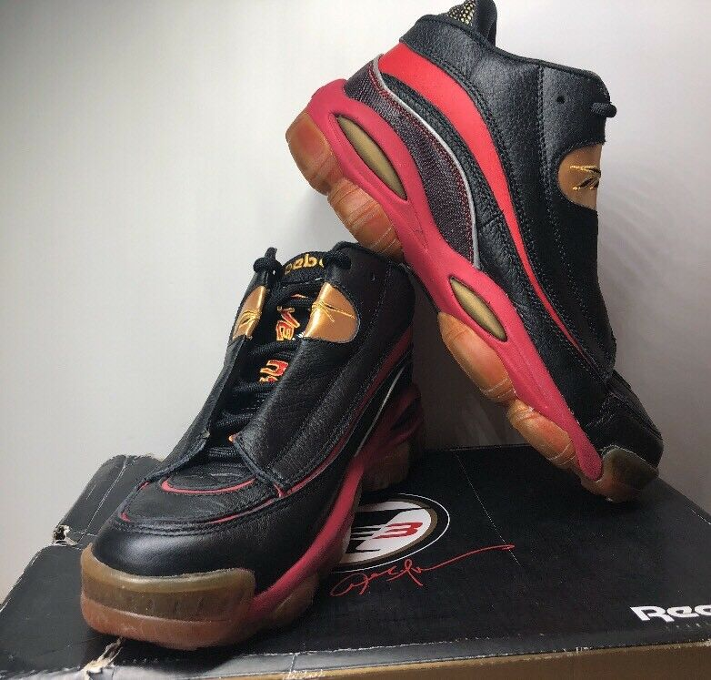 8b4992f18225 Details about Reebok Men s Answer DMX 10 Basketball Shoes Black New with  Box Size 7.5 Iverson!