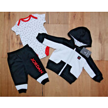 Air Jordan Infant Boy 3 Piece Bodysuit, Pants & Hooded Jacket Set ~ Jumpman ~