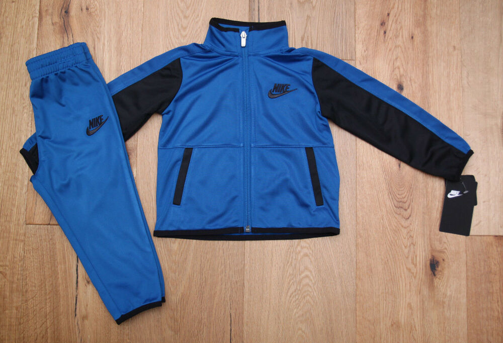 6490e0a36 Details about Nike Baby Boy 2 Piece Jogging Set ~ Tracksuit ~ Blue & Black ~