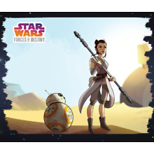TOPPS STAR WARS CARD TRADER FORCES OF DESTINY DROID COMPANIONS #3 REY & BB-8
