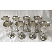Four F.B. Rogers Silver Co. Footed Goblets 8 Glasses