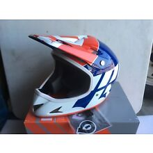 SixSixOne Rage Full Face Helmet Size Medium Navy/White/Red