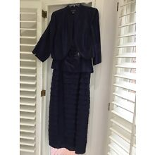 mother of the bride jacketdress, 16 Womens, Blue, Jessica Howard , lined, sequin