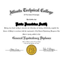 GED Certificate NOVELTY PDF or JPEG (Emailed) LIMITED TIME ONLY
