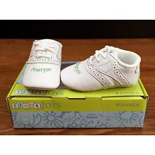 Footjoy First Joys Baby Toddler Infant Leather Golf Shoes White Green - NEW