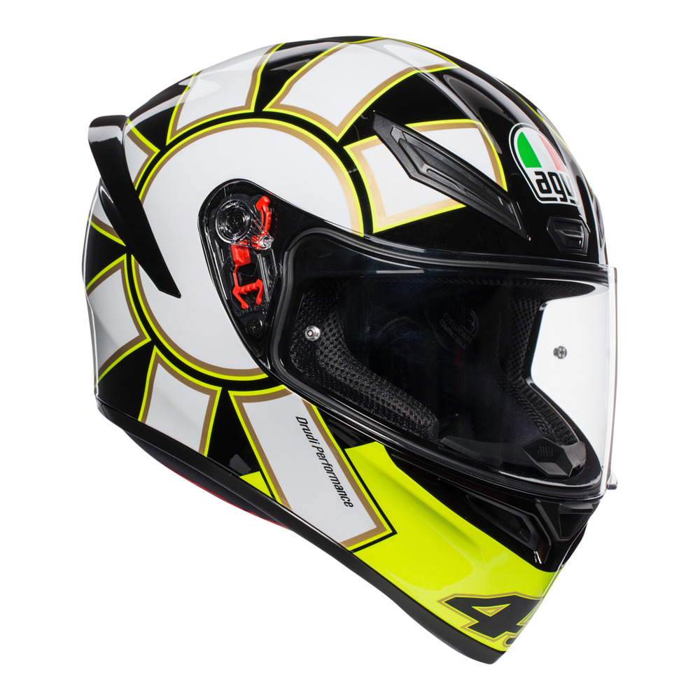 2831452c Details about AGV K1 Gothic 46 Valentino Rossi Replica Black Yellow White