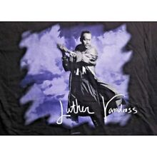 RARE Vintage Luther Vandross An Evening Of Songs World Tour 1995 T-Shirt Size L