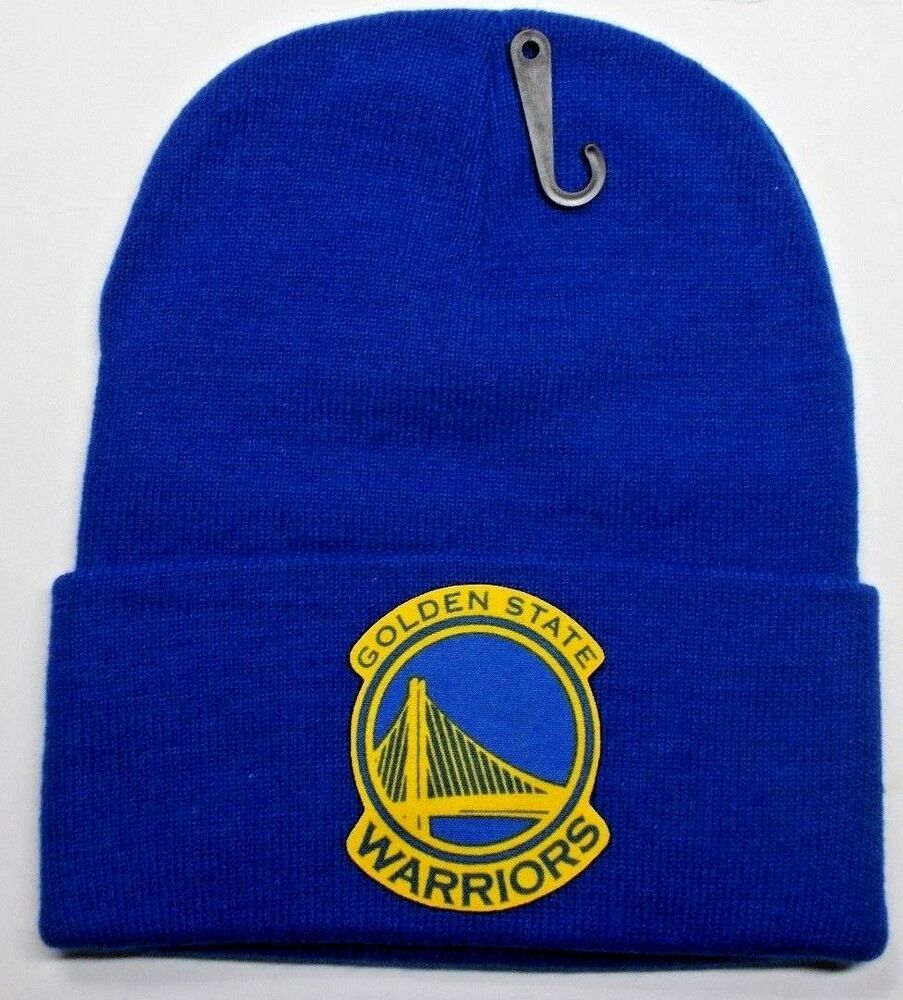 READ LISTING!Golden State Warriors HEAT Applied Flat Logo on Beanie Knit  Cap hat  14041778f69