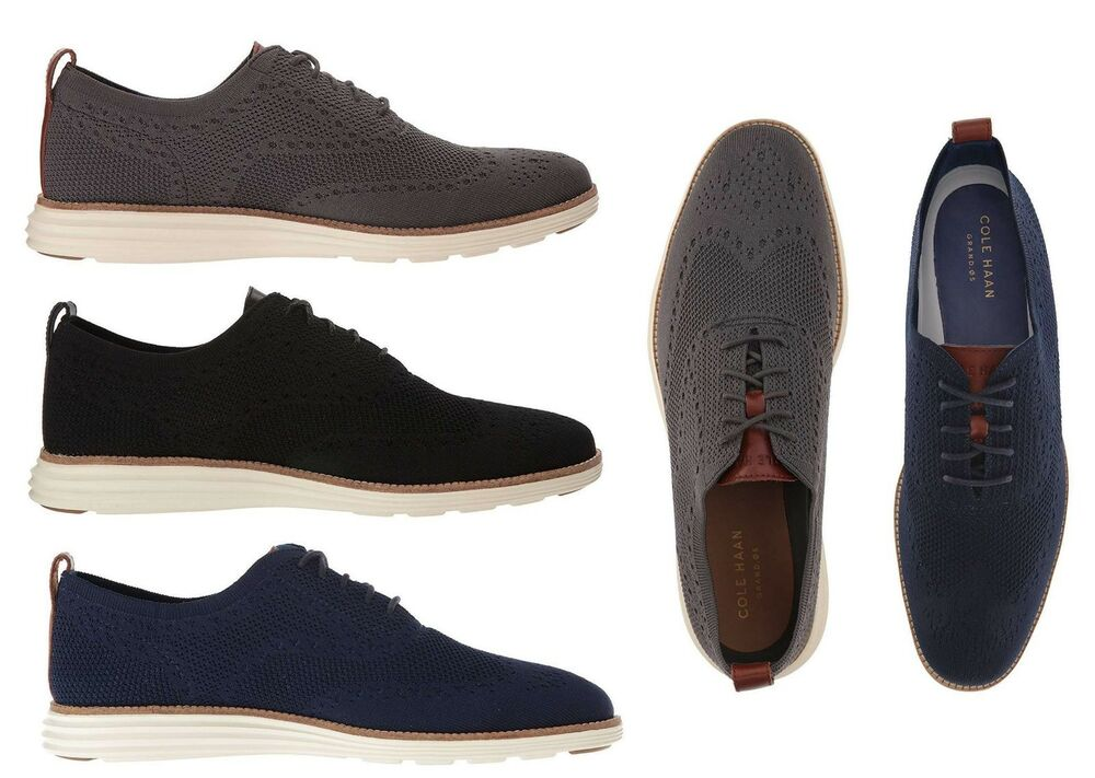 9636804c6cd981 Details about Cole Haan Men s OriginalGrand Wingtip Oxford with Stitchlite  Knitted Shoes NEW