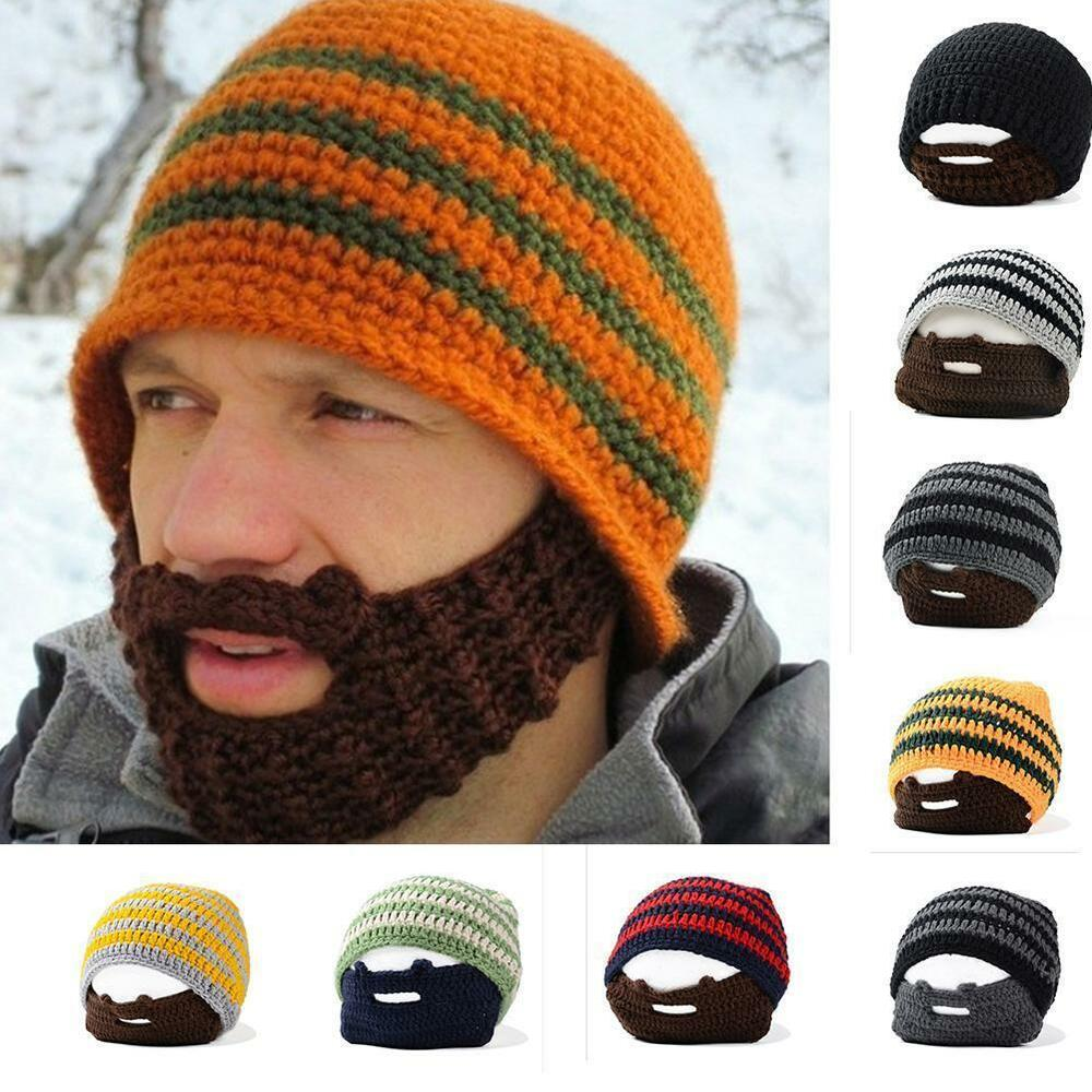 Details about Beanie Hat With Detachable Novelty Beard Face Mask Winter Ski Knit  Wool Hat US 5657c724bda