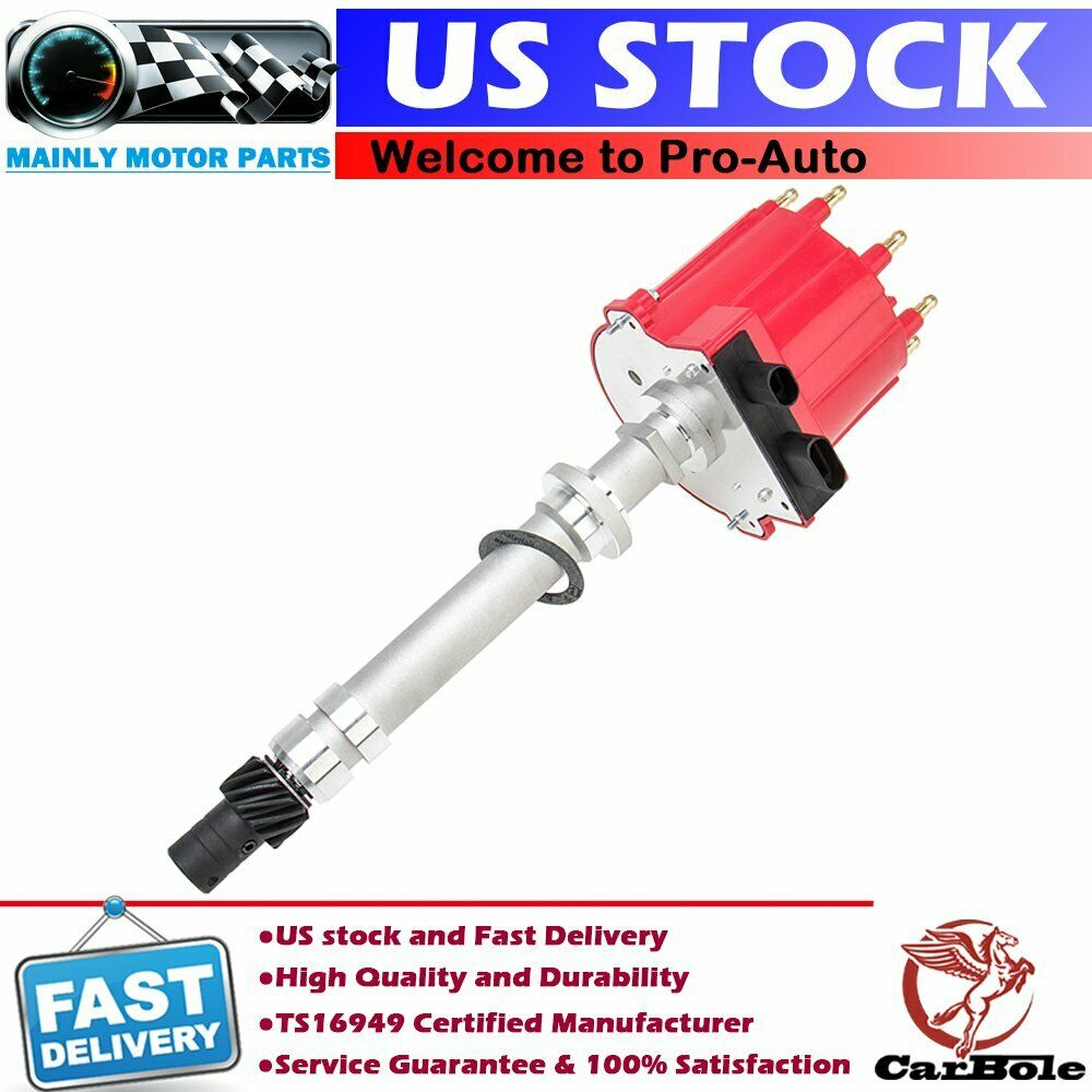 details about ignition distributor for chevy gm 350 5 7l efi tbi tpi vortec  5 0l red cap+roto