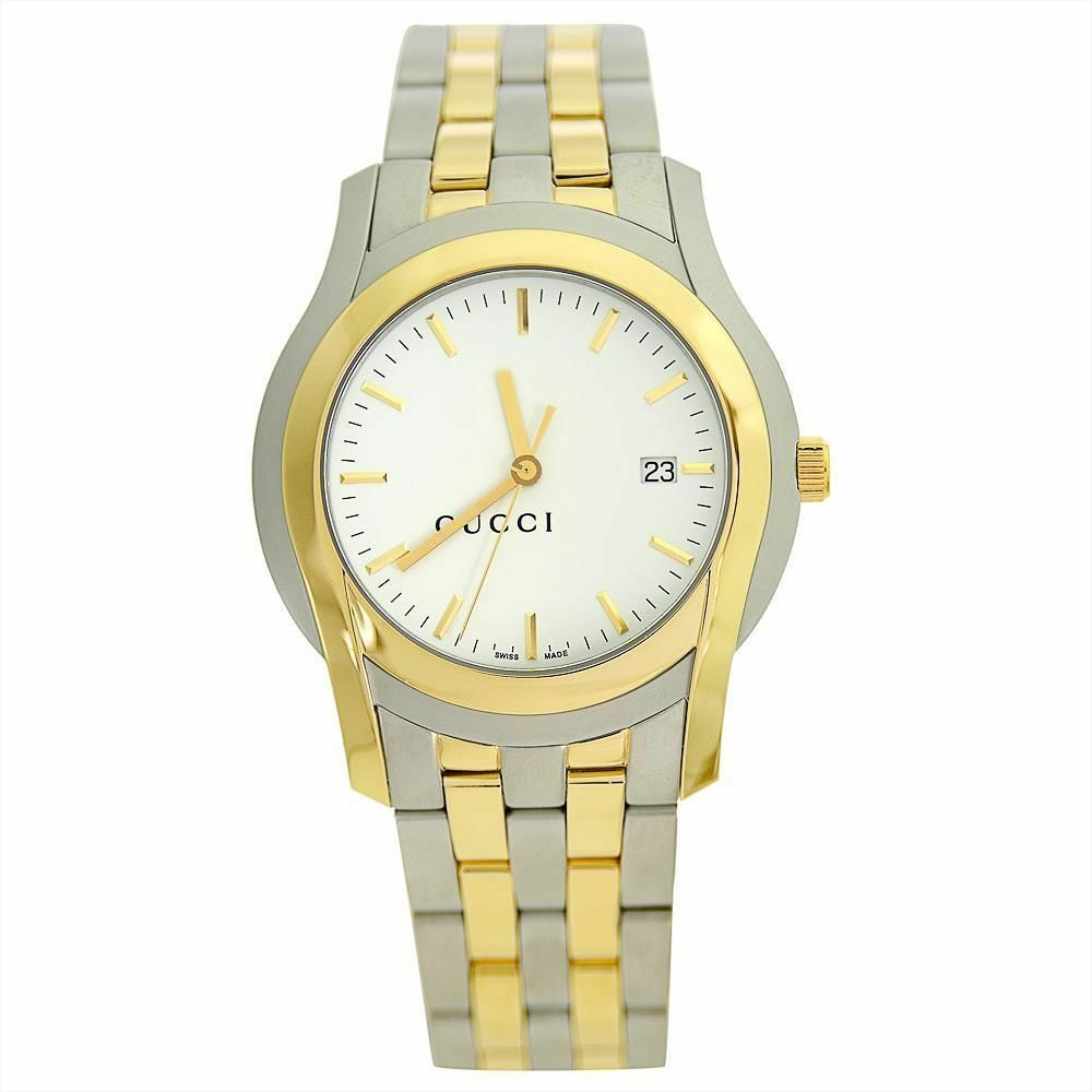 9d3ae96898f Details about GUCCI G CLASS 5505 XL SERIES STAINLESS STEEL   GOLD PLATED  DRESS WATCH YA055214