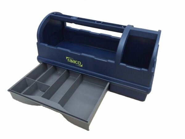 Raaco Open Toolbox 137195 Tool Box Carry Case Tack Box Compartments and Drawer