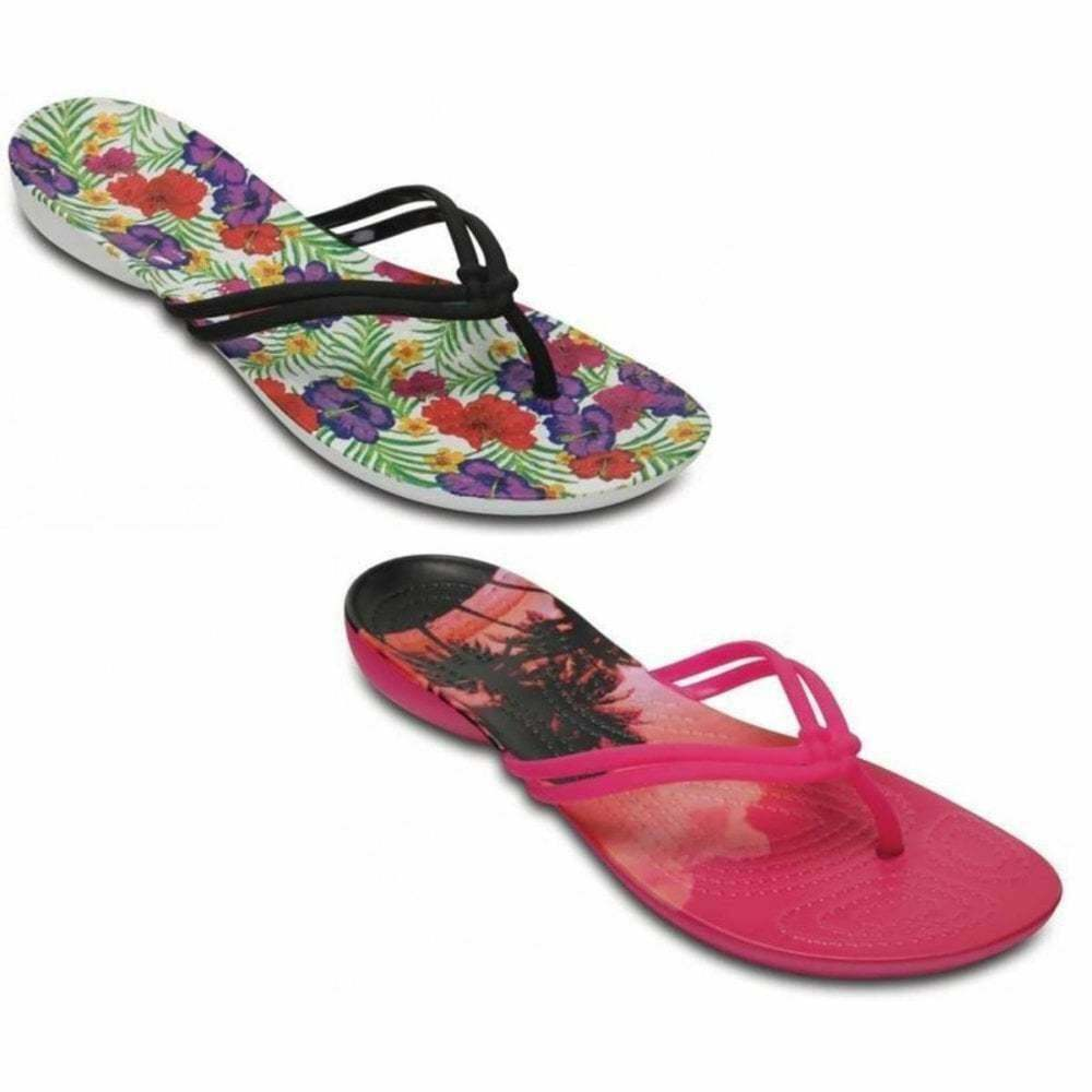 b0029967500b8 Details about Crocs Isabella Graphic Womens Flips All Sizes in Various  Colours