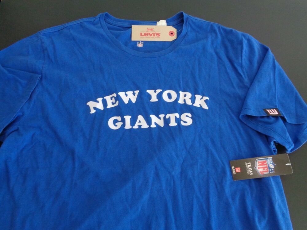 Details about NEW YORK GIANTS Football LEVIS Shirt NEW Size XXL Free  Shipping NFL Blue 5ab0d476e