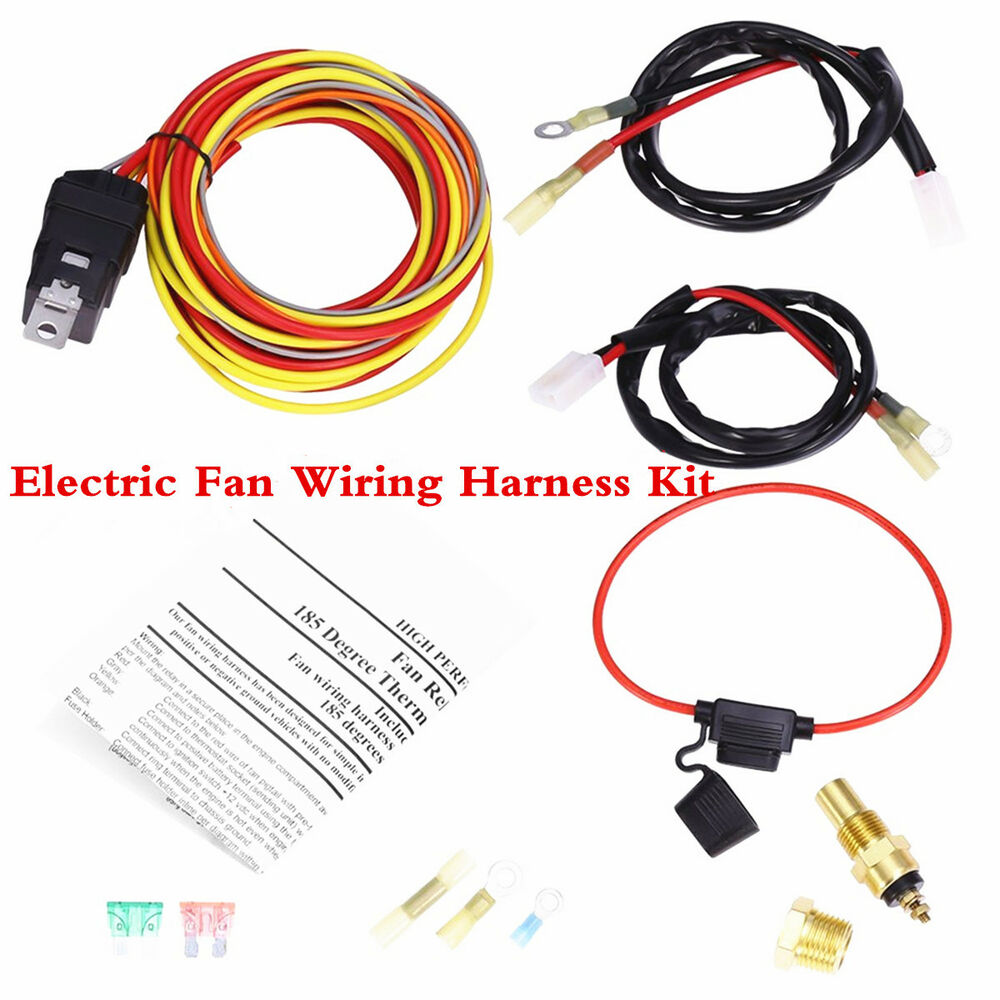 Fine Car Dual Electric Fan Cooling Wiring Harness Kit 185 165 Thermostat Wiring Digital Resources Bocepslowmaporg