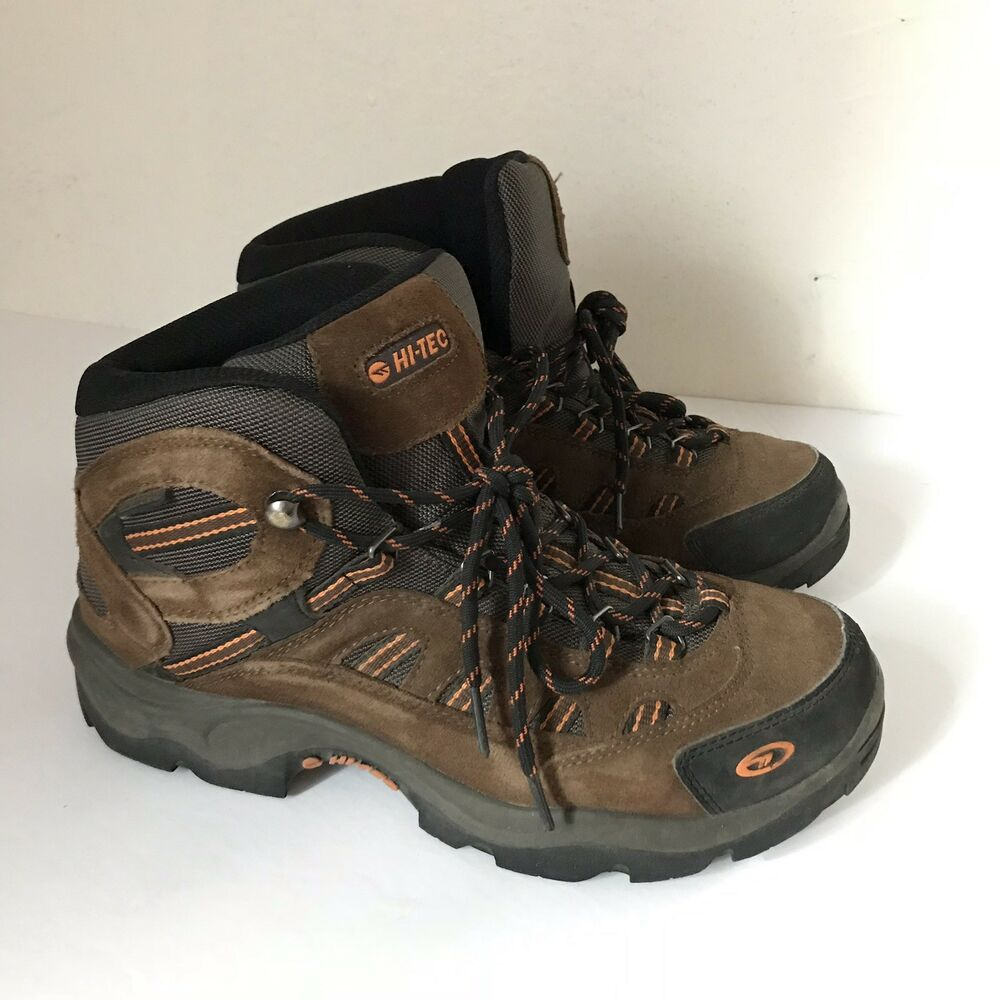 43a88e730be Hi-Tec Bandera Mid Brown Suede Lace Up Waterproof Hiking Boot Shoes Mens  Size 8   eBay