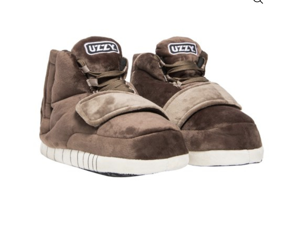 7c44b5355534 Details about Uzzy Brown Main Stage Sneaker Slippers Plush Unisex Yezzy