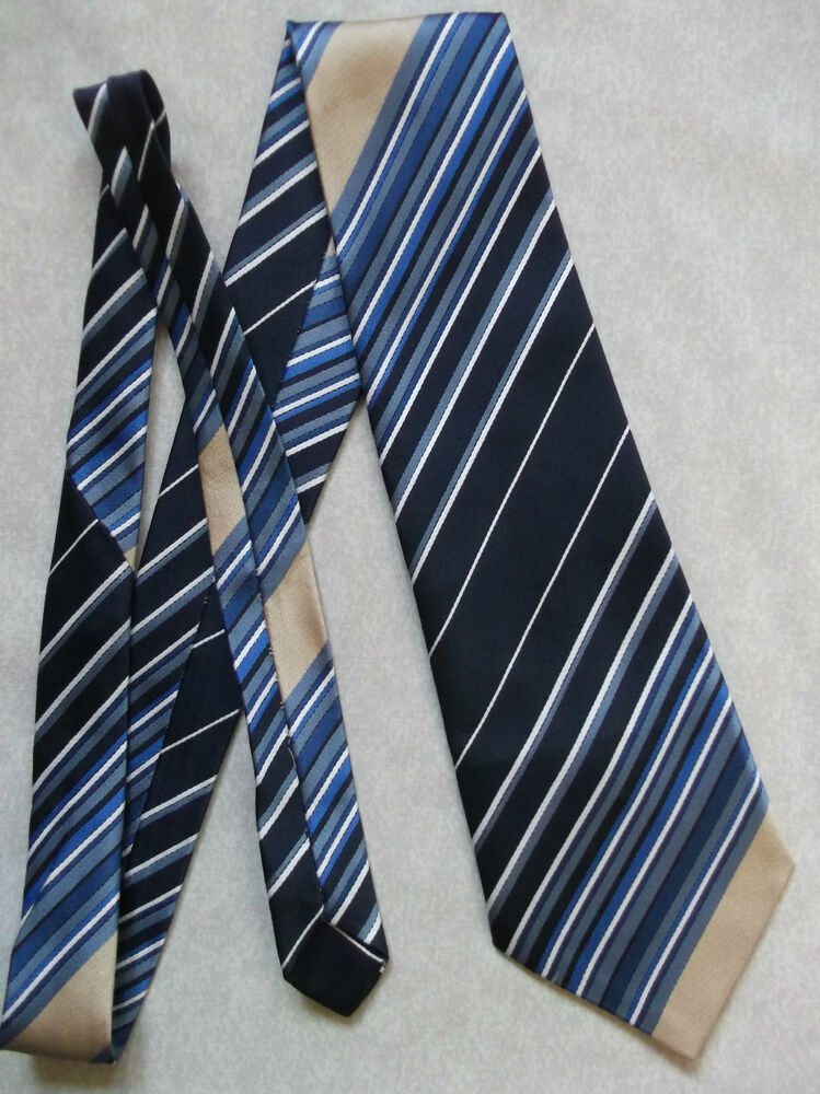 """Ties, Bow Ties & Cravats Tootal Men's Tie Brown Striped Patterned Polyester 3"""" Width 57"""" Length"""