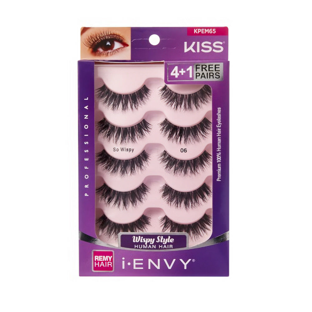 cc82b7f5580 Details about i ENVY BY KISS SO WISPY 06 BLACK STRIP EYELASHES VALUE PACK  #KPEM65