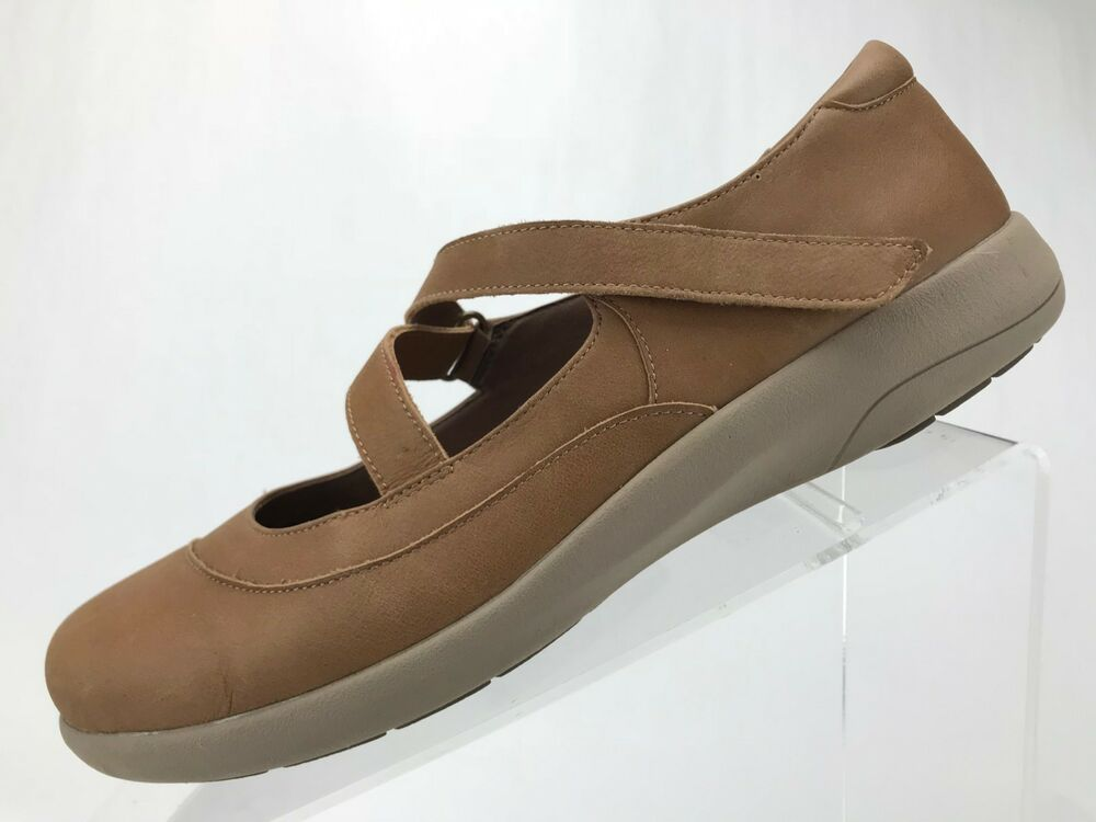 6b225f9a06 Details about Abeo Encina Mary Janes Shoes - Brown Leather Casual Walking  Women's Size 8.5