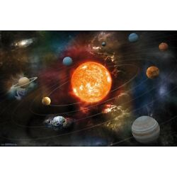 Kyпить SOLAR SYSTEM - ORBITING THE SUN POSTER - 22x34 - SPACE 17341 на еВаy.соm